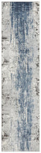Load image into Gallery viewer, Kendra Roxana Distressed Timeless Rug Blue Grey White