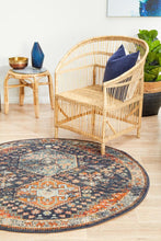 Load image into Gallery viewer, Legacy 854 Navy Round Rug