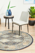 Load image into Gallery viewer, Legacy 857 Navy Round Rug