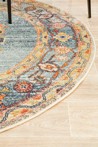 Legacy 862 Rust Round Rug