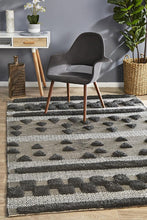 Load image into Gallery viewer, Miller Rhythm Flow Charcoal Rug