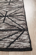 Load image into Gallery viewer, Miller Rhythm Motif Charcoal Rug