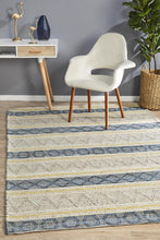 Load image into Gallery viewer, Miller Rhythm Opus Silver Rug