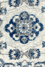 Load image into Gallery viewer, Mirage Sury Ivory Navy Heritage Runner Rug