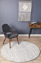 Load image into Gallery viewer, Mirage Zelda Silver Grey Round Rug