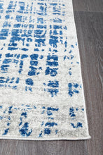 Load image into Gallery viewer, Mirage Ashley Abstract Modern Blue Grey Runner Rug