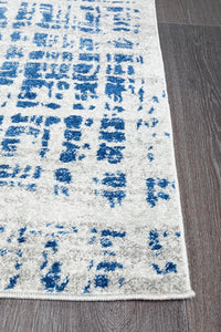 Mirage Ashley Abstract Modern Blue Grey Runner Rug