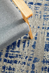 Mirage Ashley Abstract Modern Blue Grey Rug