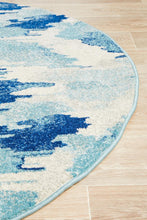 Load image into Gallery viewer, Mirage Lesley Whimsical Blue Round Rug