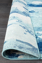 Load image into Gallery viewer, Mirage Lesley Whimsical Blue Runner Rug