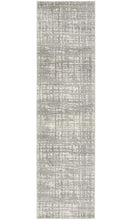 Load image into Gallery viewer, Mirage Ashley Abstract Modern Silver Grey Runner Rug
