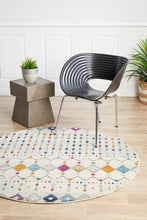 Load image into Gallery viewer, Mirage Peggy Tribal Morrocan Style Multi Round Rug