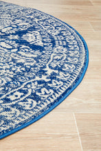 Load image into Gallery viewer, Mirage Gwyneth Stunning Transitional Navy Round Rug