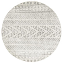 Load image into Gallery viewer, Mirage Adani  Modern Tribal Design Grey Round Rug