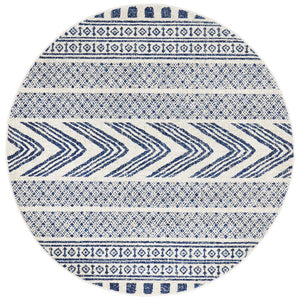 Mirage Adani  Modern Tribal Design Navy Round Rug