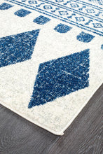 Load image into Gallery viewer, Mirage Adani  Modern Tribal Design Navy Runner Rug