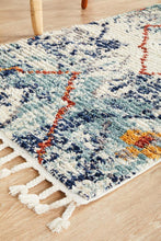Load image into Gallery viewer, Marrakesh 444 Blue Runner Rug