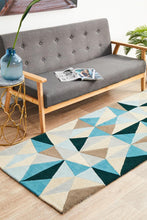 Load image into Gallery viewer, Matrix Pure Wool 901 Turquoise Runner Rug