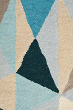 Load image into Gallery viewer, Matrix Pure Wool Turquoise Rug