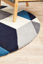 Load image into Gallery viewer, Matrix Pure Wool 904 Steel Round Rug