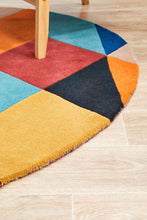Load image into Gallery viewer, Matrix Pure Wool 904 Sunset Round Rug