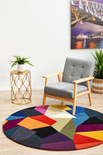 Load image into Gallery viewer, Matrix Pure Wool 906 Crayon Round Rug