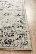 Load image into Gallery viewer, Museum Transitional Charcoal Runner Rug