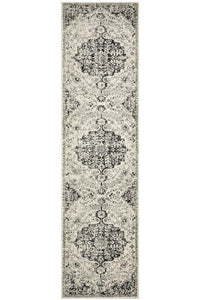 Museum Transitional Charcoal Runner Rug