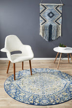 Load image into Gallery viewer, Museum Ruthy Navy Round Rug