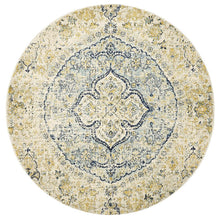 Load image into Gallery viewer, Museum Tyler Sky Blue Round Rug