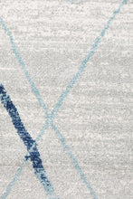 Load image into Gallery viewer, Oasis Noah White Blue Contemporary Runner Rug