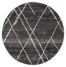 Load image into Gallery viewer, Oasis Noah Charcoal Contemporary Round Rug