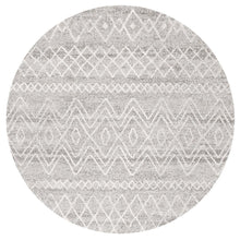 Load image into Gallery viewer, Oasis Nadia Grey Rustic Tribal Round Rug