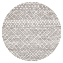 Load image into Gallery viewer, Oasis Selma Silver Tribal Round Rug