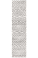 Load image into Gallery viewer, Oasis Selma Silver Tribal Runner Rug