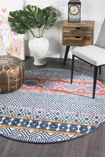 Load image into Gallery viewer, Oasis Sabrina Multi Tribal Round Rug