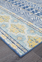 Load image into Gallery viewer, Oasis Sabrina Navy Tribal Rug