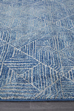 Load image into Gallery viewer, Oasis Kenza Contemporary Navy Runner Rug