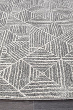 Load image into Gallery viewer, Oasis Kenza Contemporary Silver Runner Rug