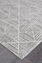 Load image into Gallery viewer, Oasis Kenza Contemporary Silver Rug