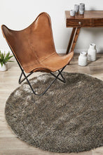 Load image into Gallery viewer, Oslo Round Shag Stone Rug