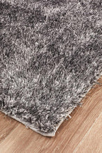Load image into Gallery viewer, Oslo Shag White & Grey Rug