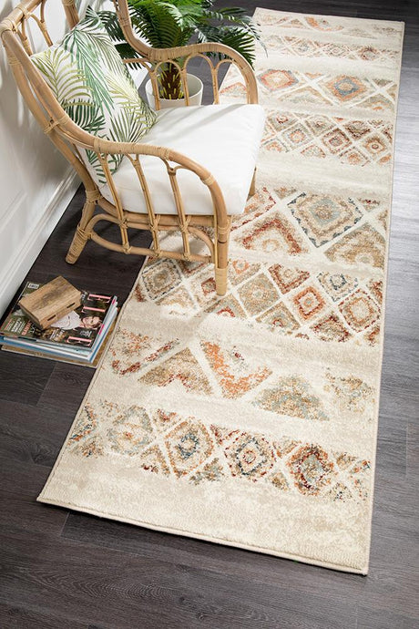 Oxford Mayfair Contrast Rust Runner Rug