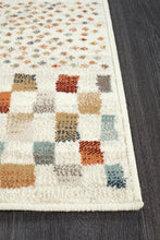 Load image into Gallery viewer, Oxford Mayfair Squares Bone Runner Rug