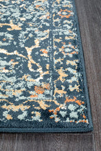 Load image into Gallery viewer, Oxford Mayfair Stem Navy Runner Rug