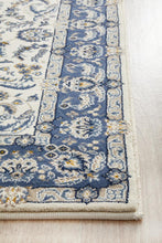 Load image into Gallery viewer, Palace Aisha Oriental Runner Rug White Blue