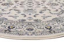 Load image into Gallery viewer, Palace Aisha Oriental Round Rug White White