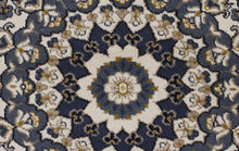 Load image into Gallery viewer, Palace Manal Oriental Round Rug Blue White