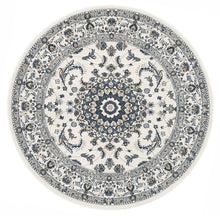 Load image into Gallery viewer, Palace Manal Oriental Round Rug White White