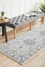 Load image into Gallery viewer, Palace Manal Oriental Runner Rug White White